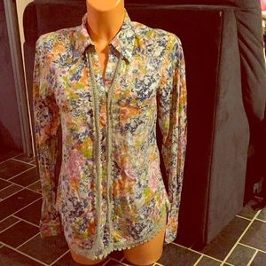 Floral western-style shirt